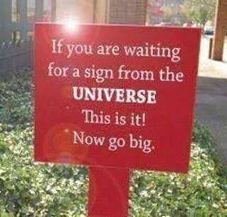 Sign from the Universe