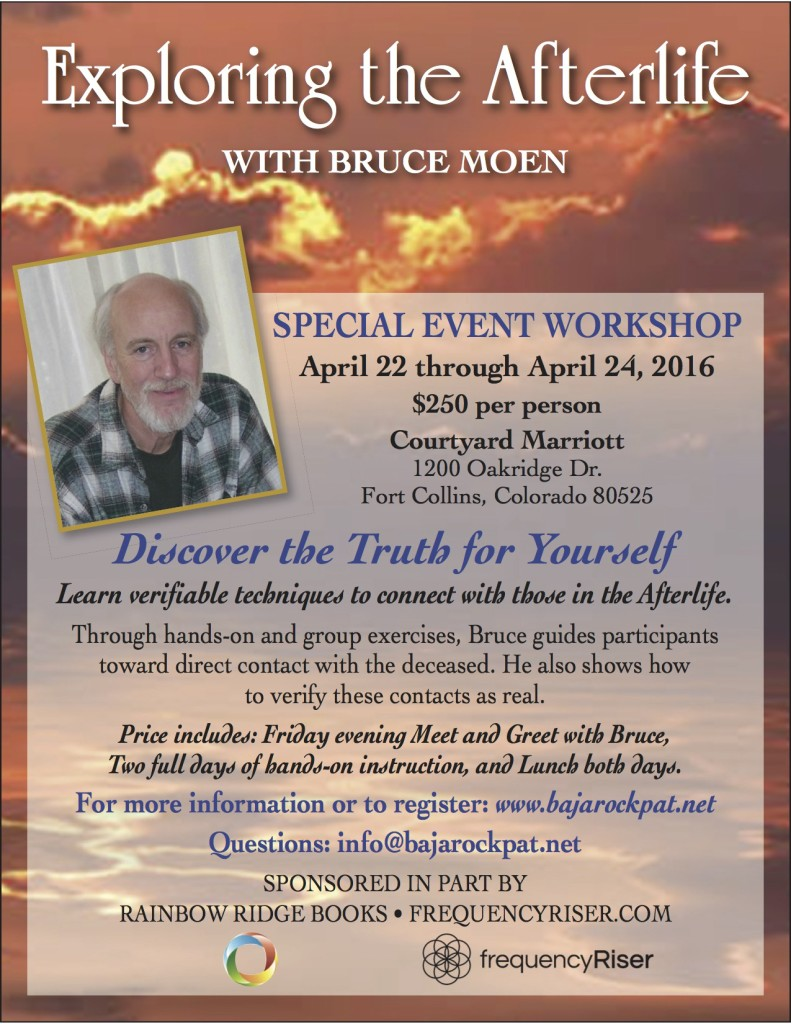 Afterlife, Bruce Moen, Workshop, Connect with Afterlife, Altered States of Consciousness